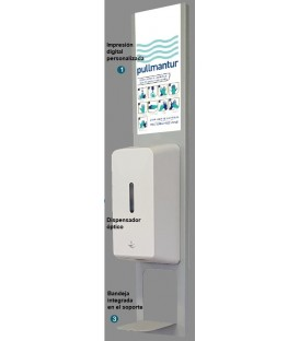 ECO PARED - Soporte dispensador gel hidroalcohólico
