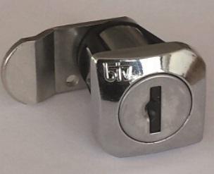 Buzón Btv Modelo Barajas - Interior, cuerpo negro y puerta de acero inoxidable brillo. Cerradura grado I