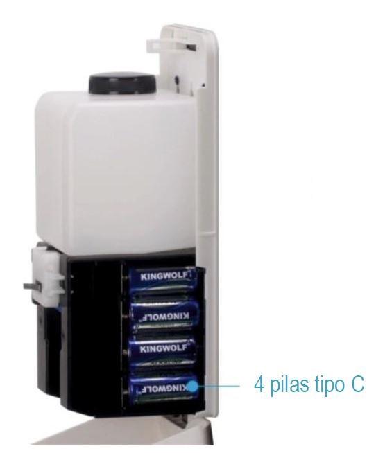 Dosificador de gel hidroalcohólico óptico, funciona con 4 pilas tipo C - Joma - Lucha contra Covid 19